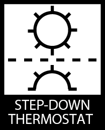 Step Down Thermostat icon by Stan Diers for Serene Living