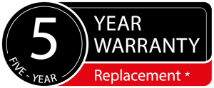 Serene 5 year Warranty Icons
